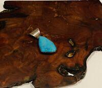 Navajo Sterling Turquoise Blue Geometric Pendant