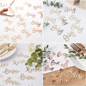 Rose Gold Baby Shower Table Confetti Scatter Sprinkle Unisex Gender Reveal Party
