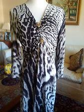 Roberto cavalli jersey leopard print dress size 46 italian