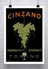Cinzano 1919 Vintage Italian Liquor Advertising Poster Canvas Giclee 24x32 in.