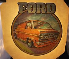 "1970's Vintage Roach Heat Transfer Iron On "" Ford Van "" (DFD45)"