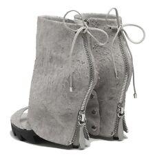 $925 Camilla Skovgaard ASH Raw Leather Stiletto Zip Boot Saw Sole 35.5/5.5