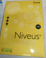 500 Bl. Kopierpapier hellgelb mondi NIVEUS A4 80g matt 70 % PEFC farbig NEU&OVP