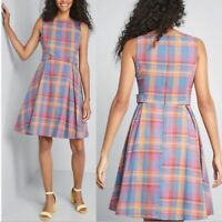 ModCloth Something Sixties Plaid A-Line Dress