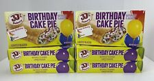 JJ's Bakery Lightly Glazed Birthday Cake Pies 6 Pack 4oz Each Dessert Snack Food