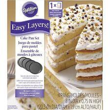 "Wilton capas fácil! 8"" Molde Para Torta Set 4pc"