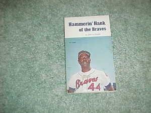 1973 Hammerin Hank of the Braves Baseball Book Hank Aaron Atlanta Braves Cover