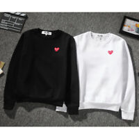 2019 Men's Comme Des Garcons CDG Play Hoodie red heart Sweater Play Women Coat