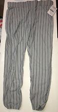 All Star ADULT PIN STRIPE Baseball/Softball Pants Grey/Navy Adult XL BSP4A