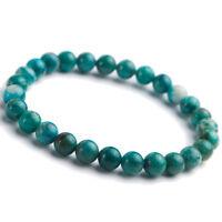 Natural Green Malachite Chrysocolla Woman Beads Gemstone Bracelet 7mm AAAA