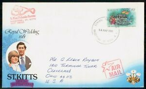 MayfairStamps St. Kitts 1985 Royal Wedding Prince Charles Royalty First Day Cove