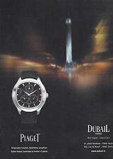▬► PUBLICITE ADVERTISING AD Montre Watch PIAGET DUBAIL emperador coussin limitée