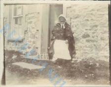 Man Dressed As Woman With Ginger Beer Bottles  Edwardian Photo 4 x 3 inch