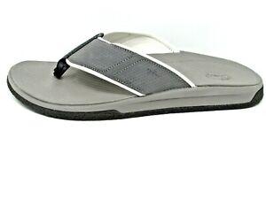 Chaco Mens Plaza Sur Flip Sandal (Gray, Size 9) Ret $85, HUGE Sale, Free Ship!
