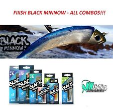 FIIISH 'BLACK MINNOW' All Combos Silicon Lures Spinning Jigging Boat Fishing