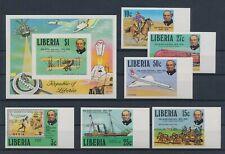 LL93199 Liberia imperf Rowland Hill transport fine lot MNH