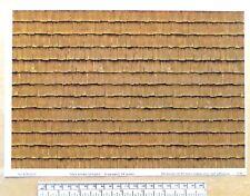 G gauge (1:24 scale) 'Wood shingles -  dark brown' self adhesive vinyl - A4