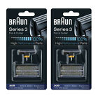 2PCS BRAUN 30B 7000 / 4000 Series Shaver Replacement Foil and Cutter Combi Pack