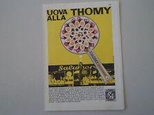 advertising Pubblicità 1963 MAIONESE THOMY