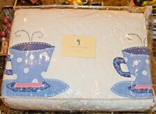 NWT Pottery Barn Kids Teapot Quilt Full/Queen Size 100% Cotton Patchwork Quilt