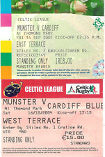 MUNSTER v CARDIFF RUGBY TICKETS 2001 & 2004