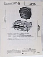 Vintage Sams Photofact Folder Radio Parts Manual Chevrolet Model 3725156