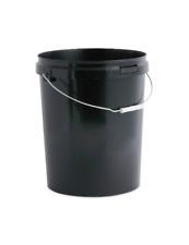 25 Litre, Ltr, Litre Black Plastic Bucket Container with Tamper evident Lid x 1