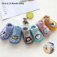 Newborn Baby Cartoon Animal Baby Girls Boys Anti-Slip Socks Shoes Boots