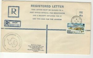 1986 BRITISH ANTARCTIC -  ROTHERA H/S REGISTERED LETTER FROM COLLECTION L4