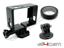 Standard Frame Mount UV Lens e treppiede Set per GoPro HERO3 + hero4
