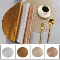 1Pc Round Placemat Heat Insulation Stain Resistant Washable Table Mat 38cm