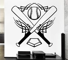 Baseball Wall Stickers Bat Sports Ball Great Decor for Room Vinyl Decal (ig340)