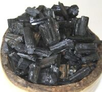 Raw Natural Black Tourmaline Crystal Quartz Rough Stone 1/2 lb Lot - From Brazil