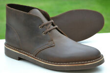 Clarks Mens Desert Boots BUSHACRE Beeswax Leather UK 9.5 / 44