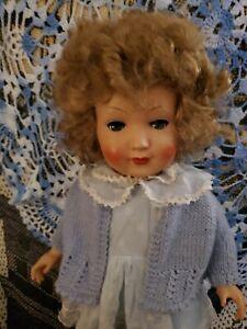 14 Inch Antique Celluloid Doll Flirty Eyes