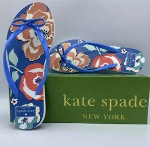 "New Kate Spade Women""s Nova Flip Flops Floral Beach Cruise-  Sizes 7,8,9"