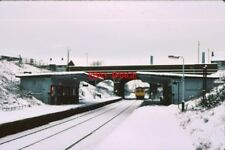 PHOTO  1979 MOSTON RAILWAY STATION LOOKING NORTH IN  A MANCHESTER TRAIN ARRIVES