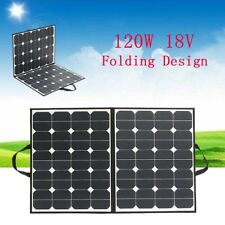 120W 18V Foldable Mono Solar Panel Battery Charger For Camping Boat Caravan Home