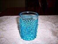 EAPG Hobbs Brockunier Blue Dew Drop Hobnail Tumbler