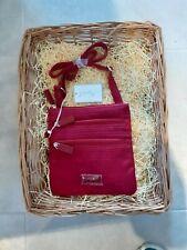 Spirit Ladies lightweight cross body , ajustable strap/  Handbag .claret colour