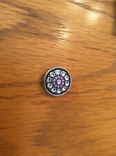 Magnolia and Vine Original/18 mm Snap - New - Purple And Clear Stones