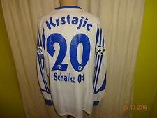 "Fc shalke 04 adidas manga larga cl. camiseta 2003/04 ""victoria"" + nº 20 krstajic talla XL"
