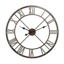1940's Belgium  INdustrial Hardware Look Open Roman Numerals Clock Large $150