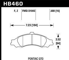 Disc Brake Pad Set-PC Front Hawk Perf HB460Z.580 fits 2004 Pontiac GTO