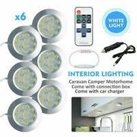 6x 12V Interior LED Spot Lights Charger LED Controller Camper Caravan White Lamp