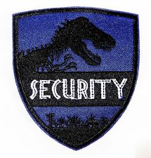 Jurassic Park Security Iron-on/Sew-on Embroidered PATCH