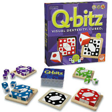 Q.BITZ GAME 80 PUZZLES MIND VISUAL DEXTERITY BRAIN TEASER FAMILY FUN BOARD NEW