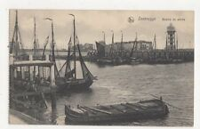 Zeebrugge Bassin de Peche Belgium Vintage Postcard 404a ^