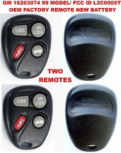 LOT 2 OEM Keyless Remote Cadillac Oldsmobile Chevy Pontiac L2C0005T 16263074-99