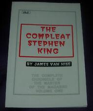 THE COMPLEAT STEPHEN KING  VOL. ONE  JAMES VAN HISE  1987   FANZINE PAPERBACK